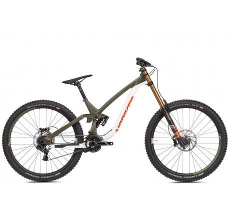 "NS Bikes Fuzz 29"" DH Expert white/army green"