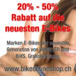 25% -  50% auf E-Bikes von Wheeler und BiXS.